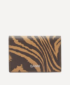 Zebra Leather Card Holder