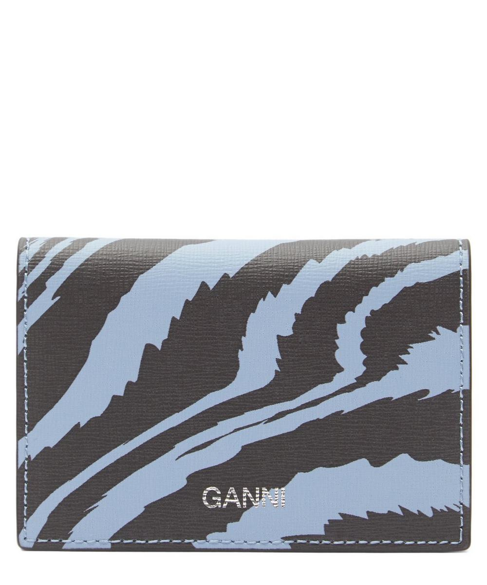 Ganni - Zebra Leather Card Holder