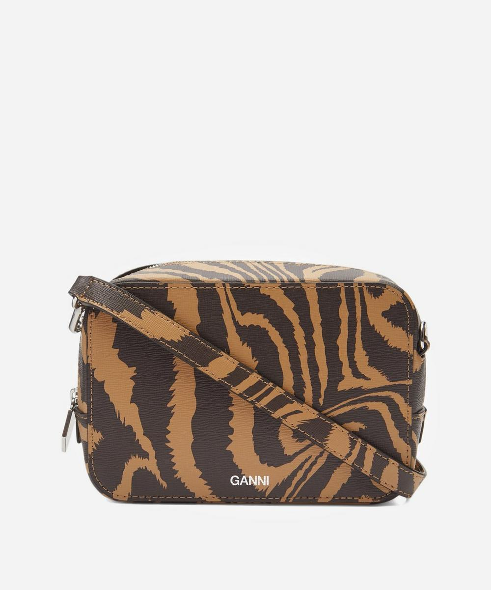 Ganni - Zebra Leather Cross-Body Camera Bag