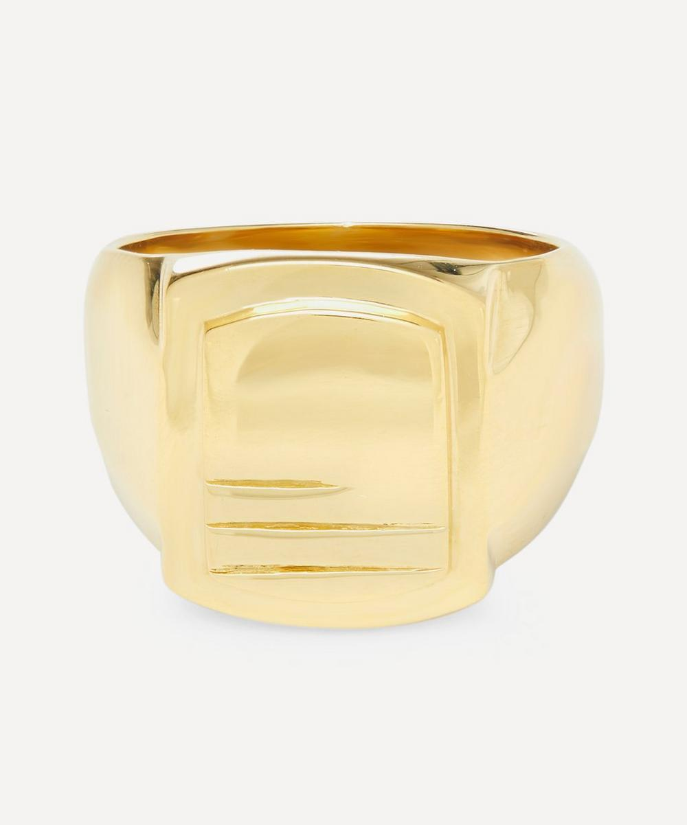 Maria Black - Gold-Plated Roben Lines Signet Ring