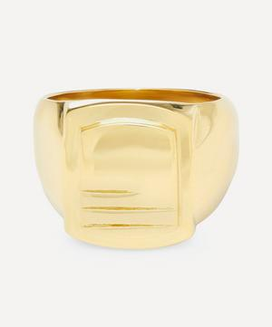 Gold-Plated Roben Lines Signet Ring