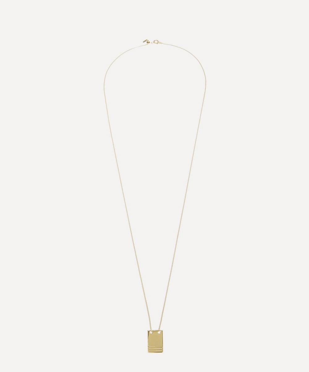 Maria Black - Gold-Plated Roben Lines Pendant Necklace