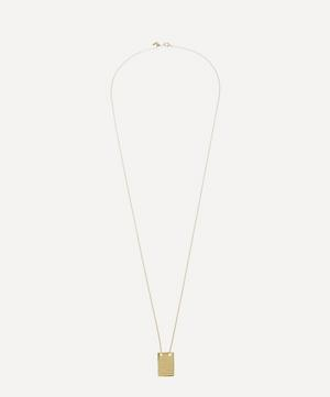 Gold-Plated Roben Lines Pendant Necklace