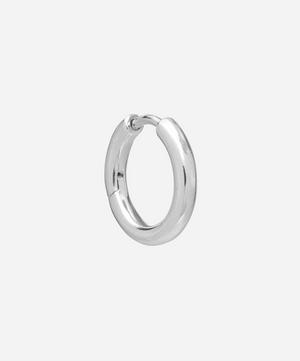 Sterling Silver Polo Huggie Hoop Earring