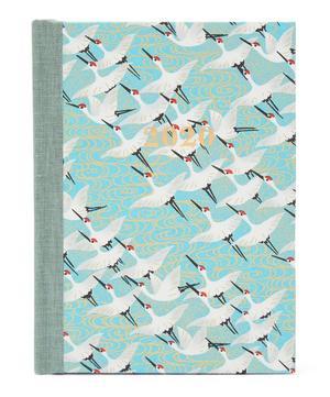 Medium Weekly White Cranes Diary 2020
