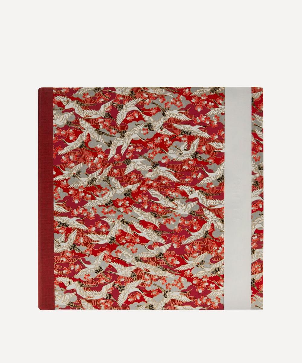 Esmie - Large Red Blossom Cranes Square Album
