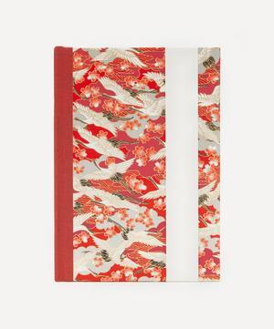 Medium Red Blossom Cranes Journal