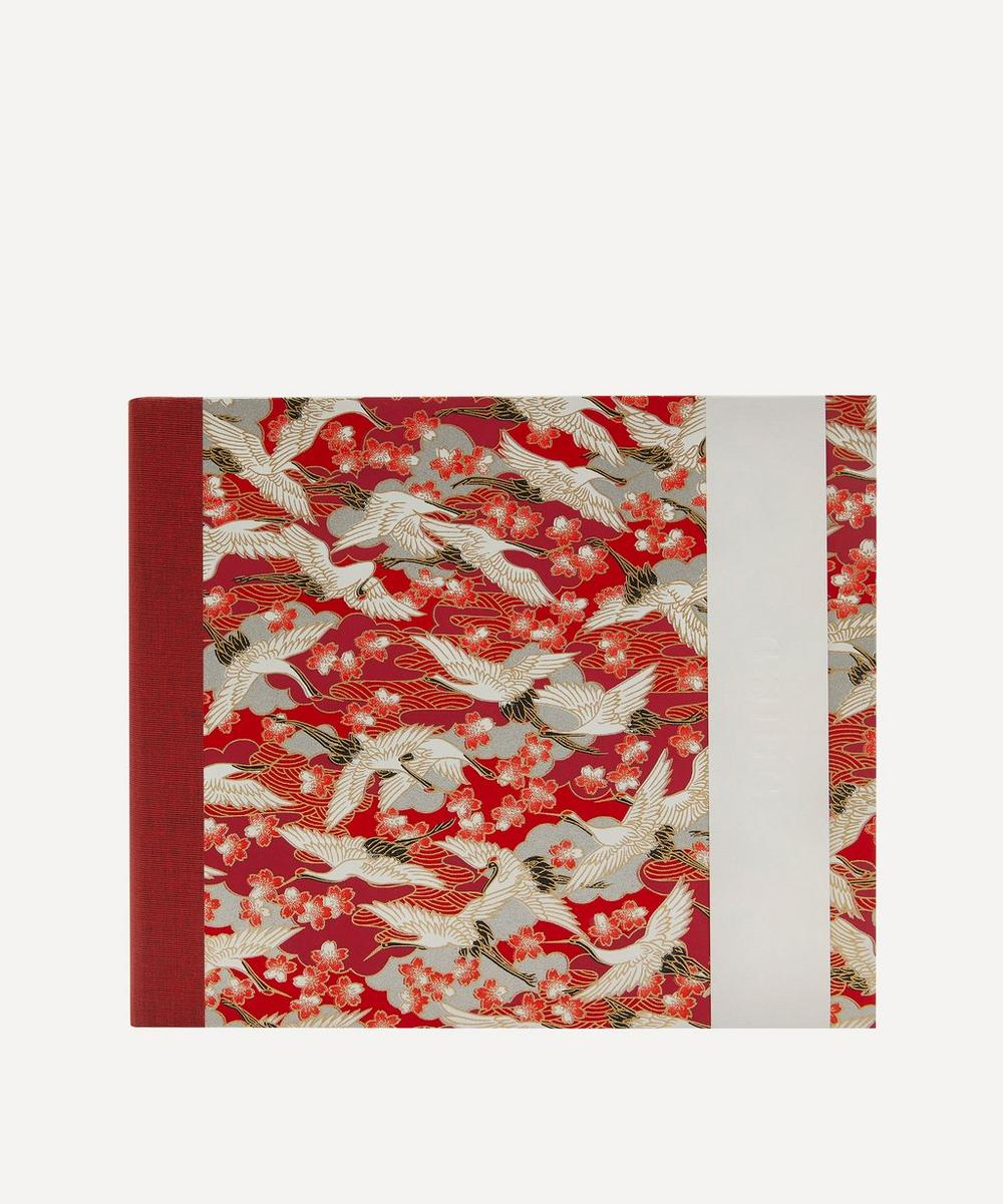 Esmie - Medium Red Blossom Cranes Landscape Album