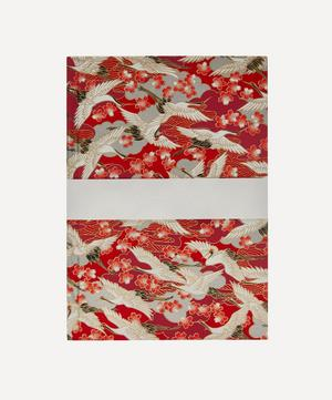 Medium Red Blossom Cranes Notebook