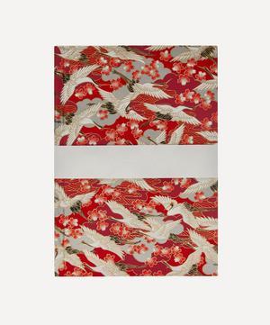 Medium Red Blossom Cranes Notebook