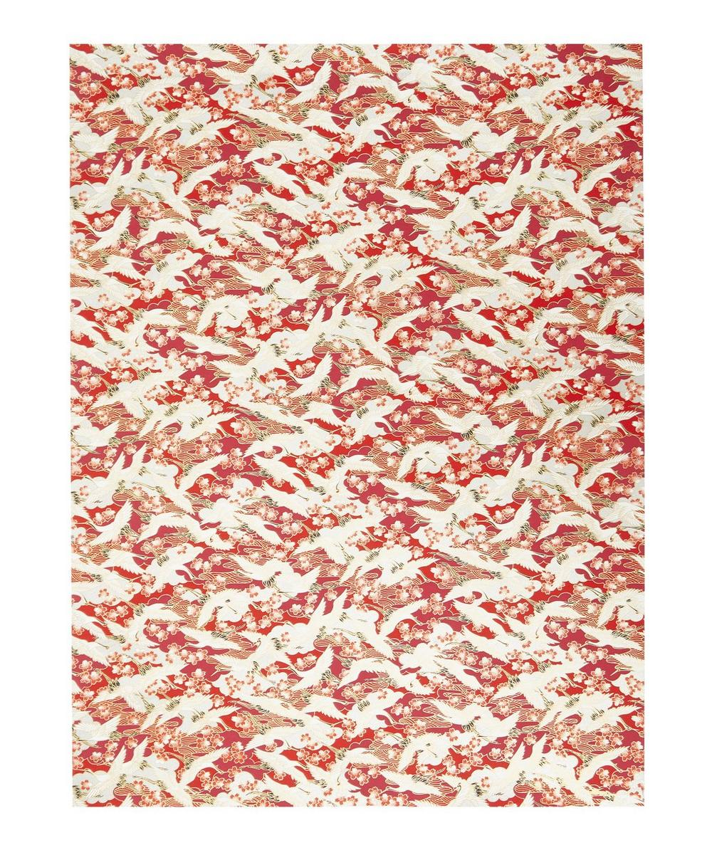 Esmie - Red Blossom Cranes Gift Wrap