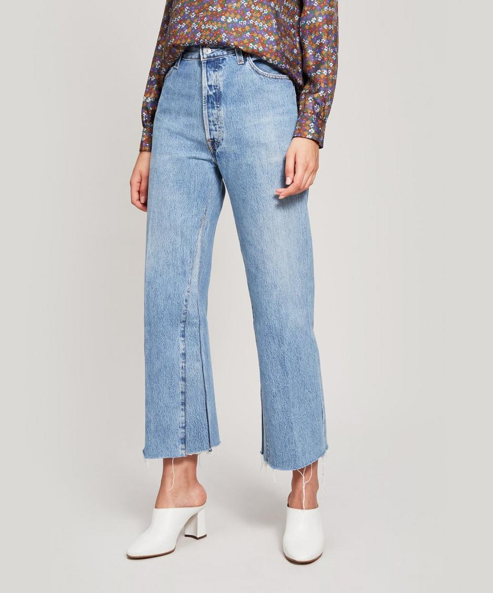 RE/DONE - Reworked Vintage High Rise Crop Jeans