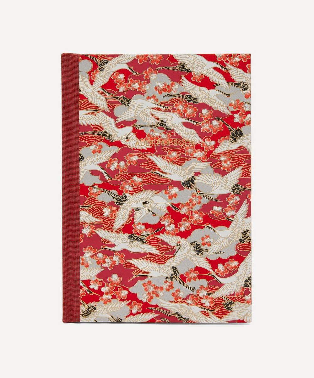 Esmie - Red Blossom Cranes Desk Address Book