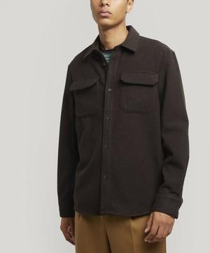 Heat Wool-Blend Flannel Overshirt
