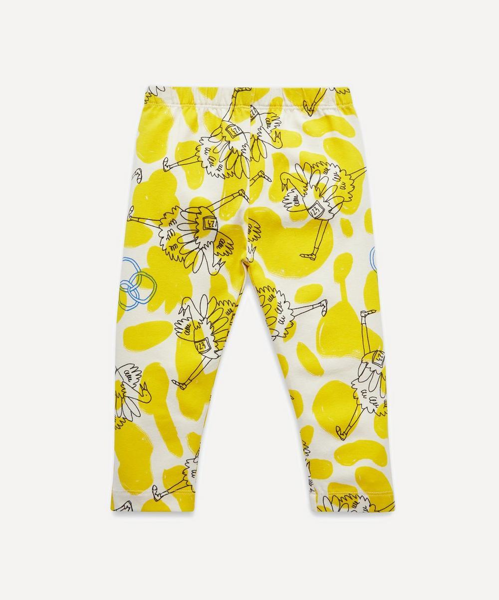 Yellow Ostrich Baby Leggings Liberty