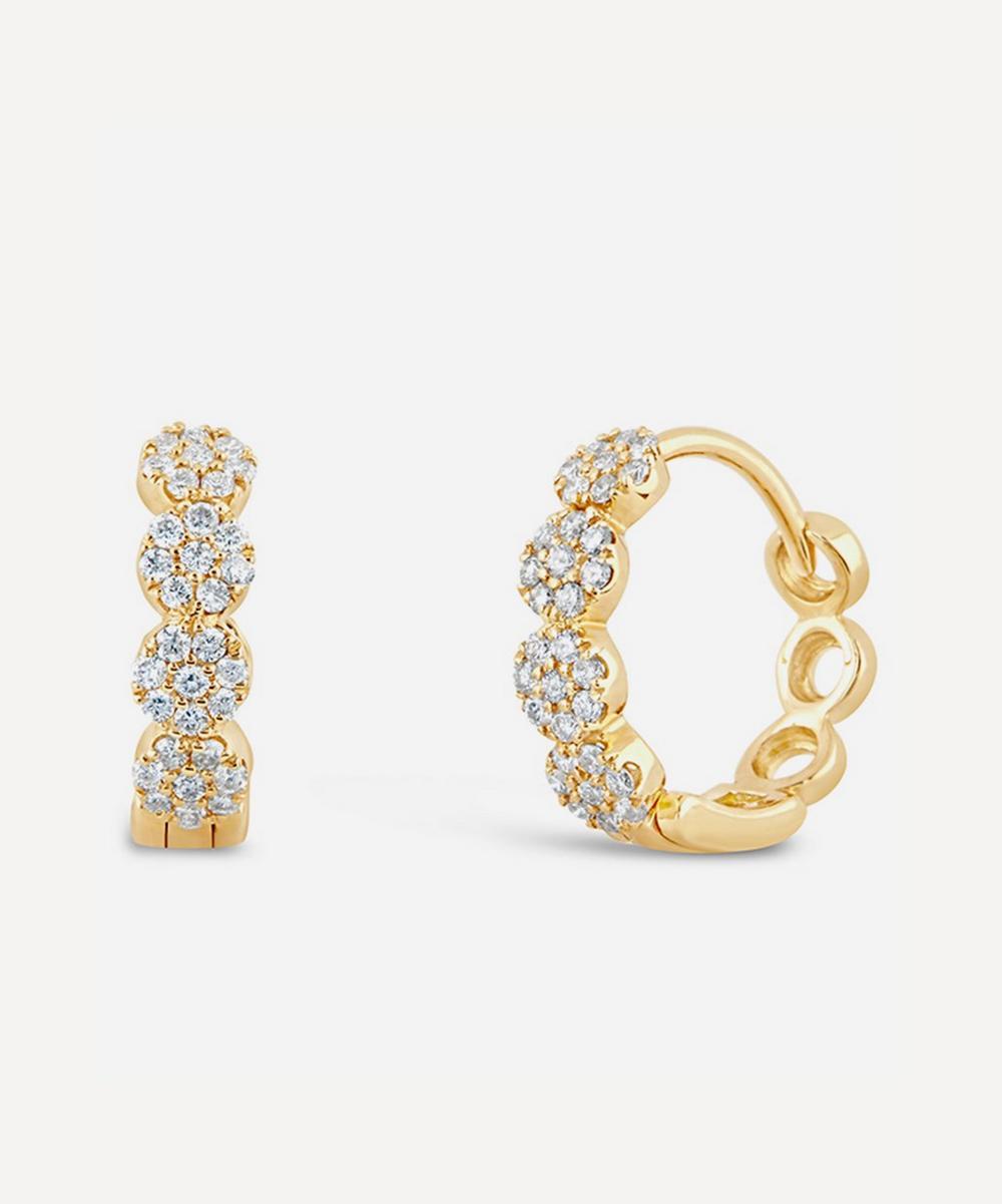 Dinny Hall - Gold Shuga Pavé Diamond Huggie Hoop Earrings