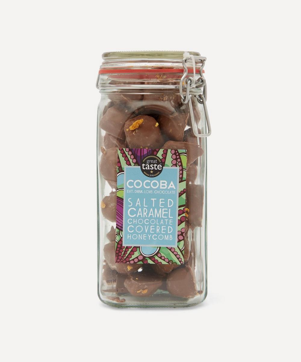 Cocoba Chocolate - Salted Caramel Milk Chocolate Honeycomb Jar 500g