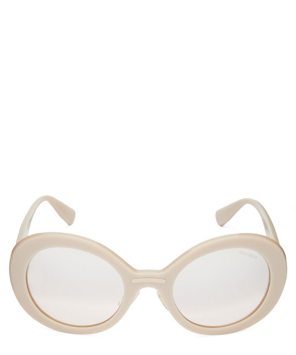Miu Miu - Oversized Round Sunglasses
