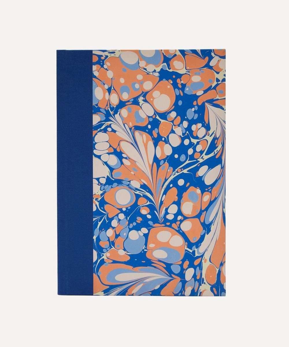 Paperwilds - A5 Quarter Bound Marbled Lined Notebook