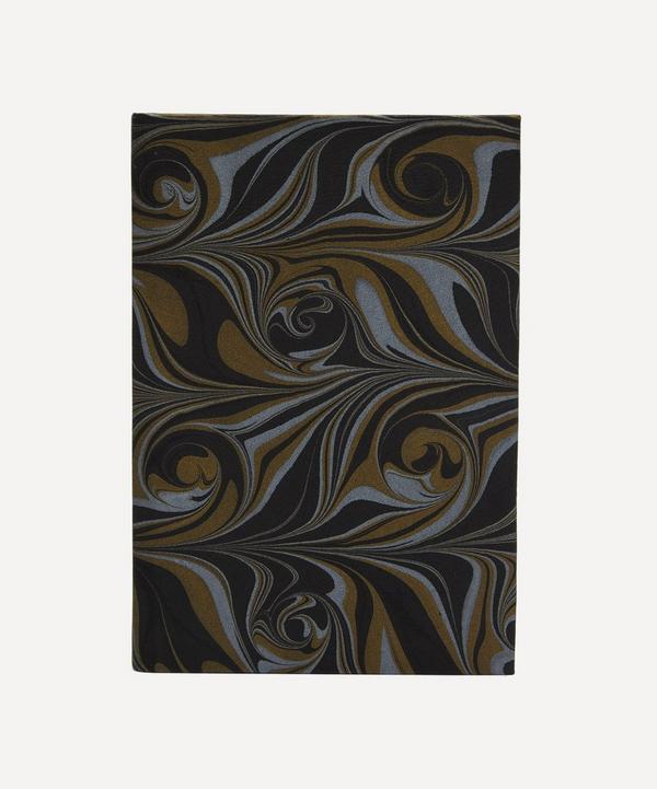 Paperwilds - A5 Leather Marbled Notebook