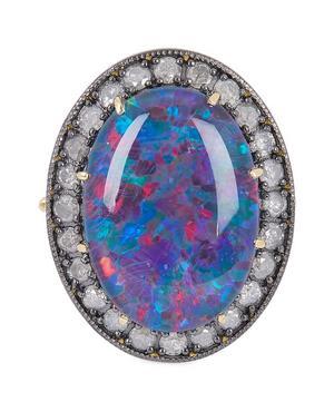 Gold Kat Australian Opal and Diamond Ring