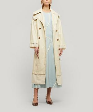 Gladys Faux Leather Trench Coat