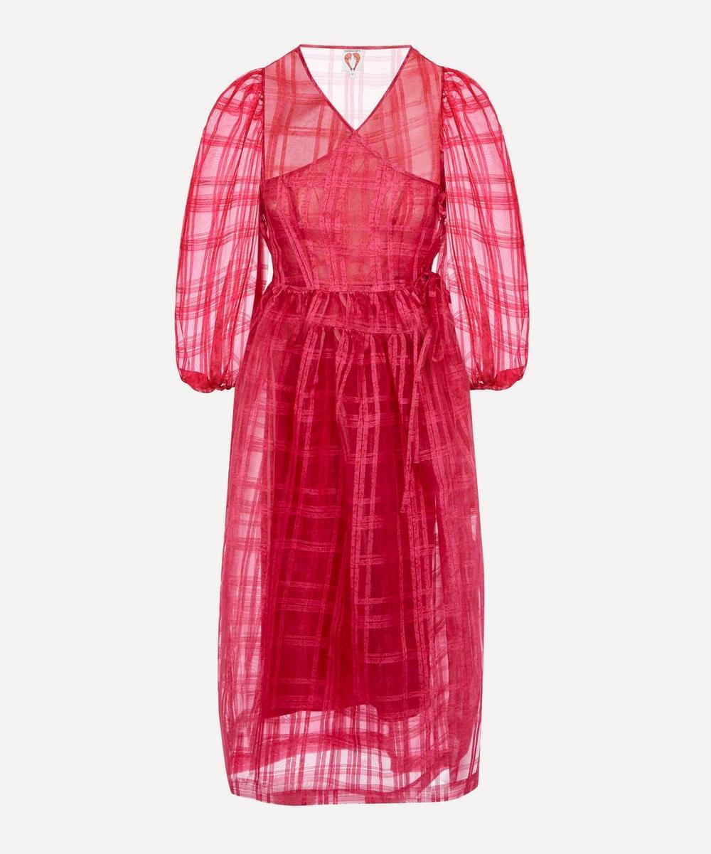 Shrimps - Georgie Sheer Check Midi-Dress