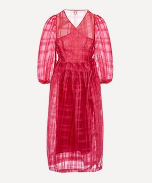 Georgie Sheer Check Midi-Dress