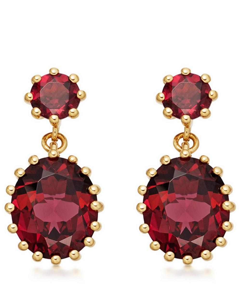 Astley Clarke - Gold Plated Vermeil Silver Linia Rhodolite Drop Earrings