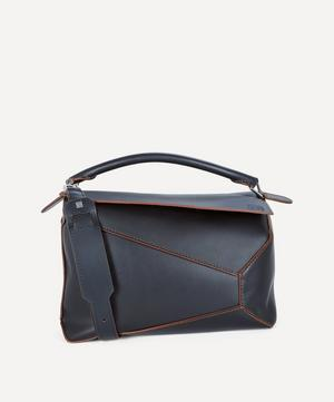 Puzzle Edge Large Leather Shoulder Bag