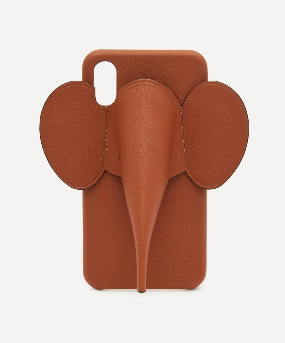 Loewe - Elephant Full-Grain Leather iPhone X and XS Case