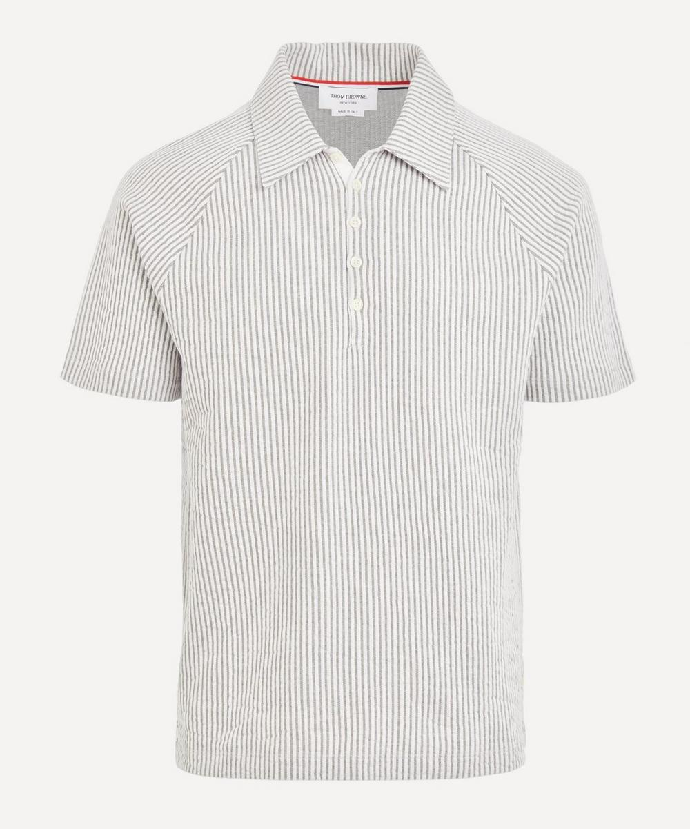 Thom Browne - Seersucker Knitted Polo Shirt