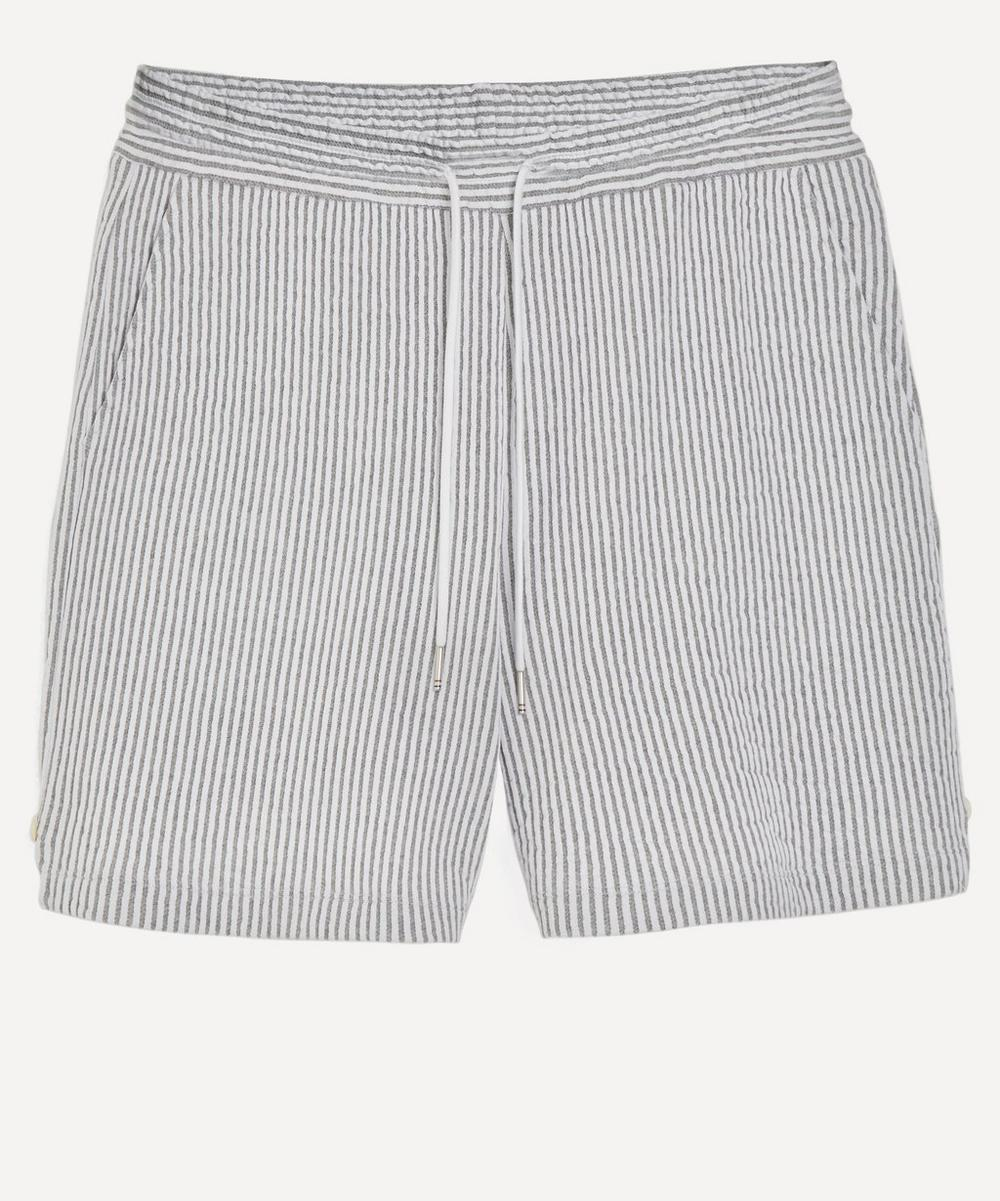 Thom Browne - Seersucker Knitted Shorts