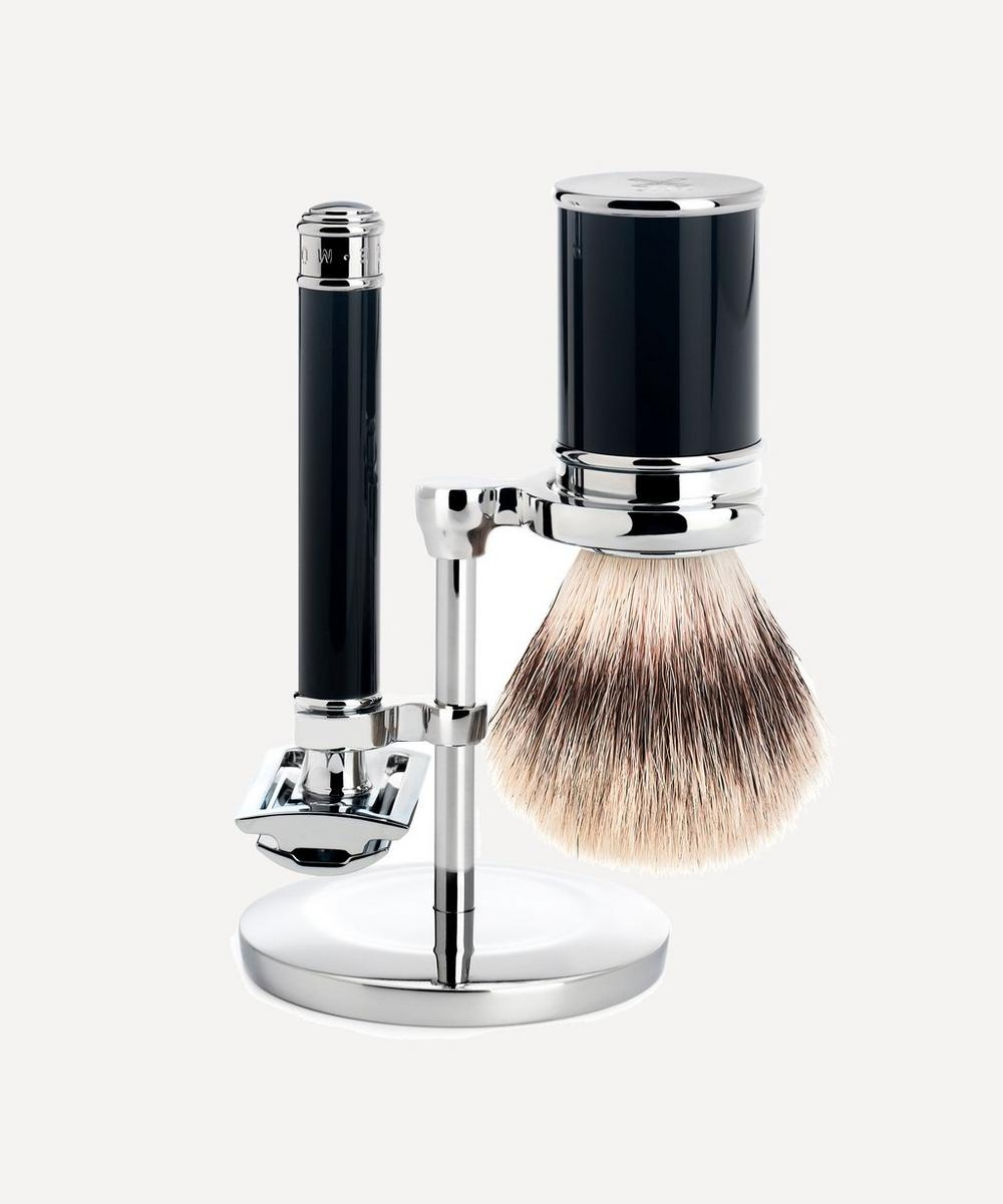 MÜHLE - Black Silvertip Fibre Shaving Set
