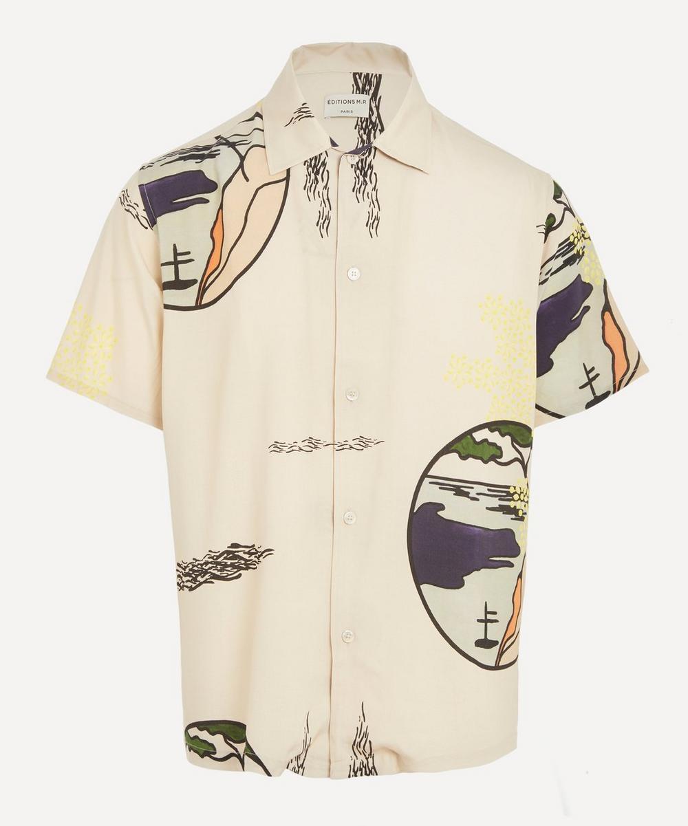 Éditions M.R - Eric Open Collar Landscape Print Shirt