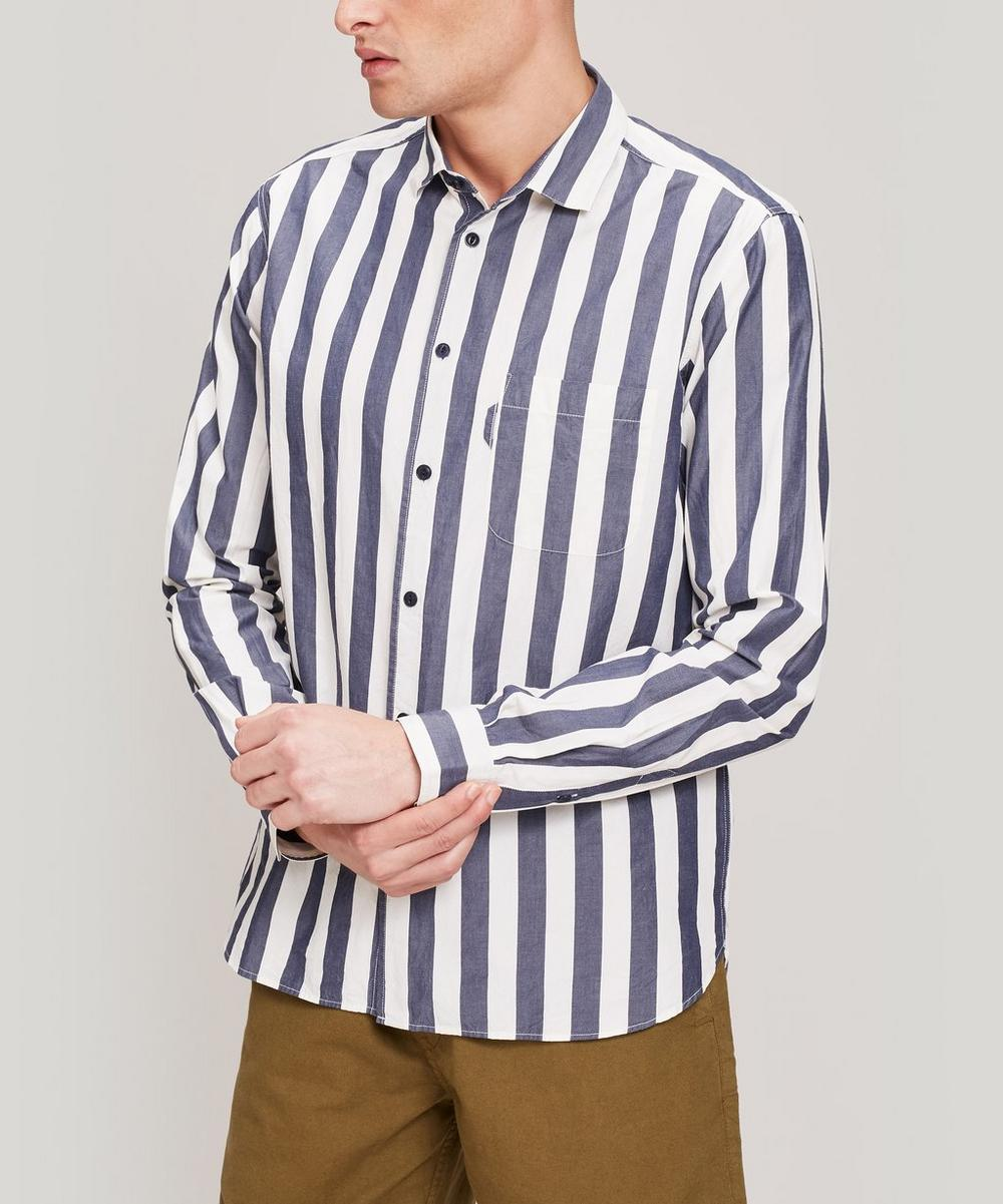 YMC - Curtis Bold Stripe Cotton Shirt