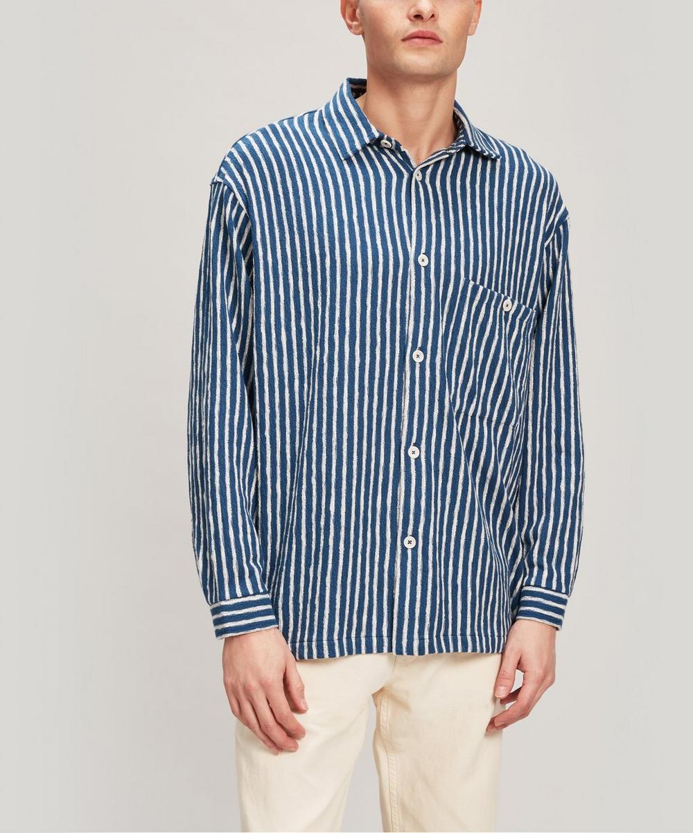 YMC - Screech Reverse Stripe Shirt