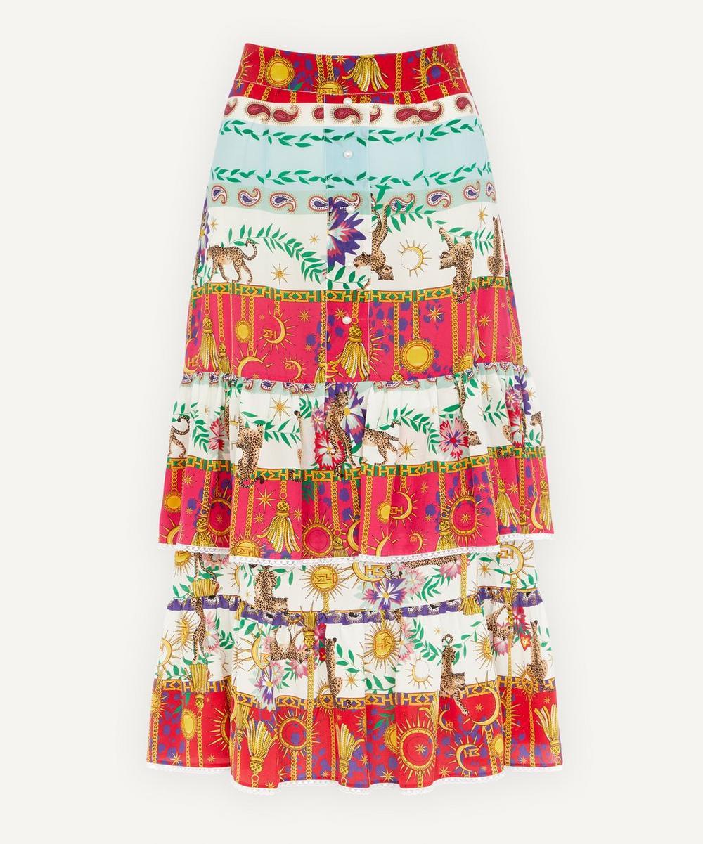 Hayley Menzies - Enchanted Leopard Midi-Skirt