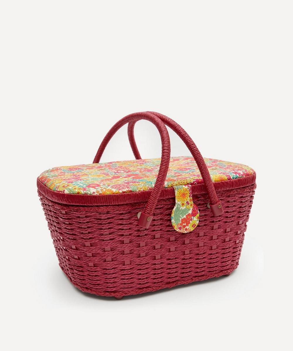 Liberty London - Margaret Annie Print Hamper Sewing Basket