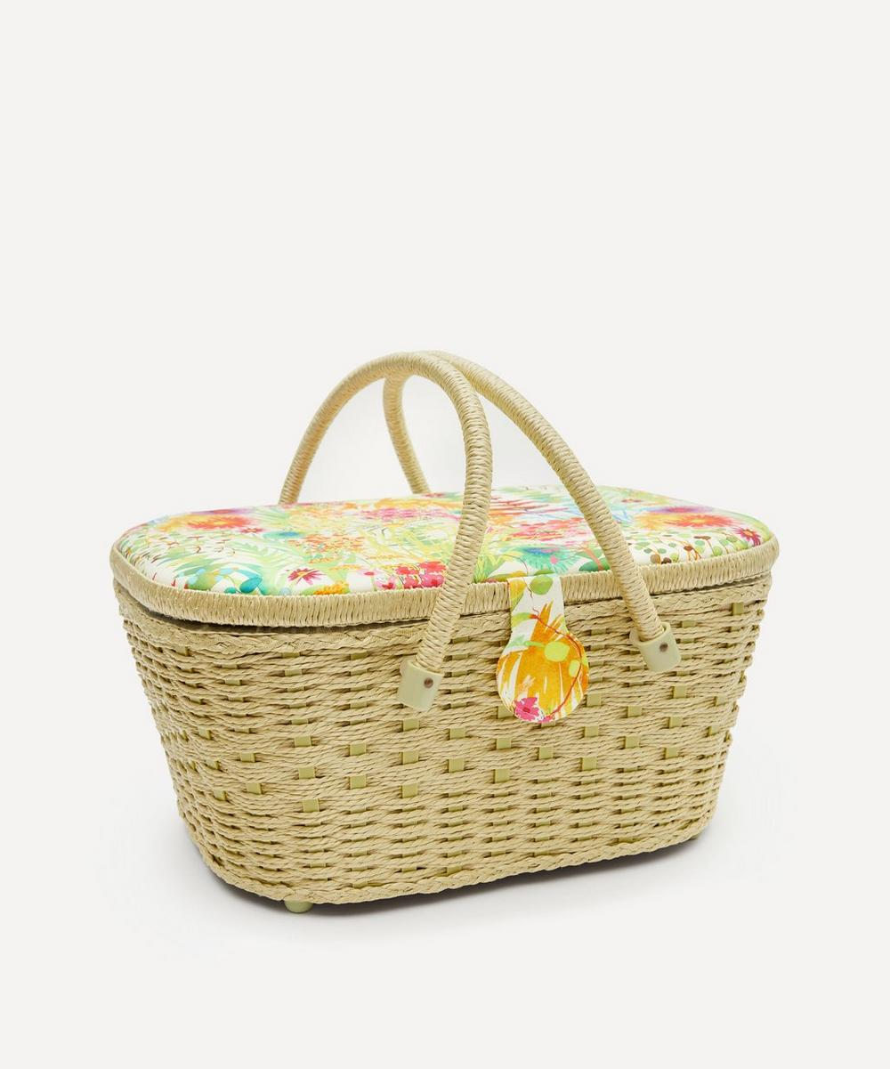 Liberty London - Tresco Print Hamper Sewing Basket