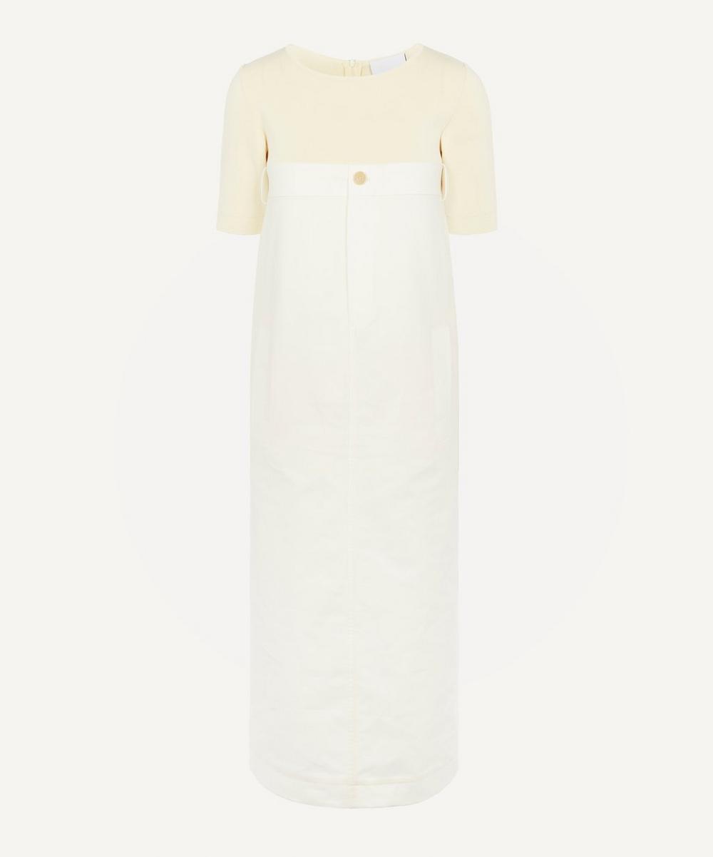 Erika Cavallini - Contrast Fabric Midi-Dress