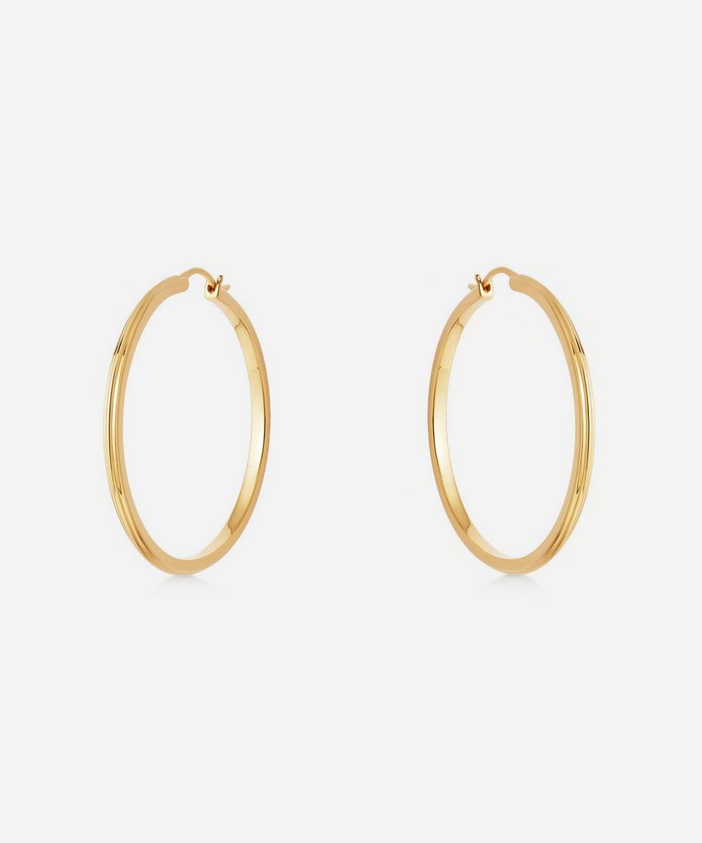 Astley Clarke - Gold Plated Vermeil Silver Large Linia Hoop Earrings