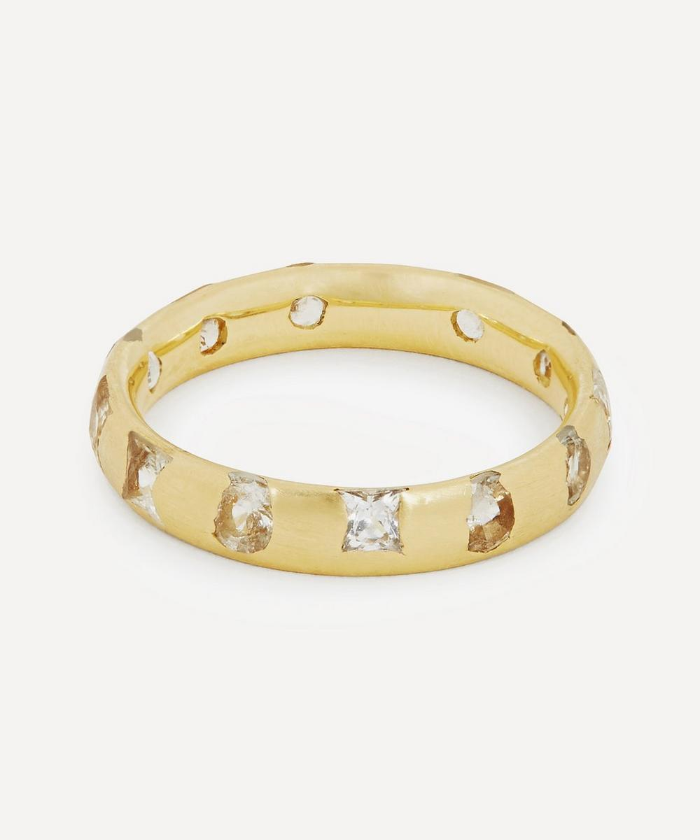 Polly Wales - Gold White Sapphire Celeste Ring