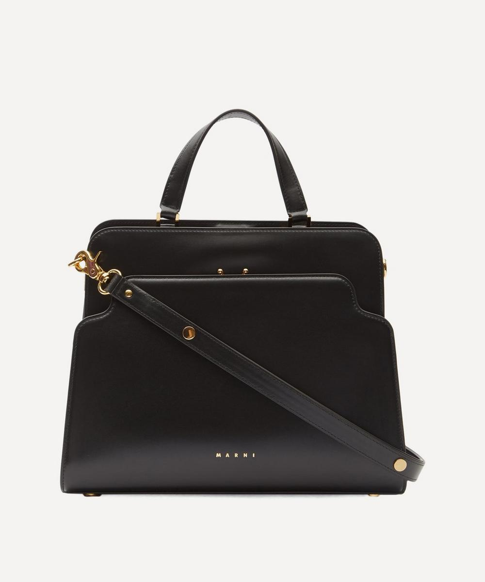 Marni - Trunk Reverse Leather Tote Bag