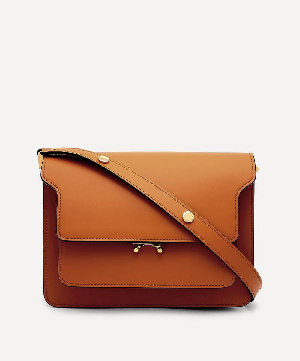 Marni - Noos Trunk Medium Leather Shoulder Bag