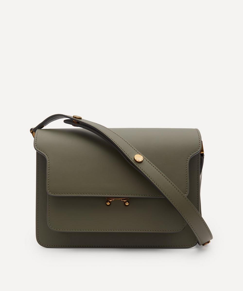 Marni - Noos Trunk Medium Leather Shoulder Bag