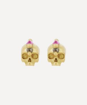Gold Island of Idols Skull Earrings
