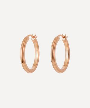 Rose Gold Plated Vermeil Silver Small Linia Hoop Earrings