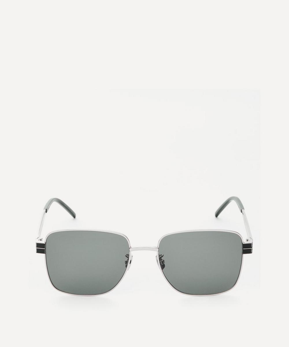 Saint Laurent - Square-Frame Metal Sunglasses