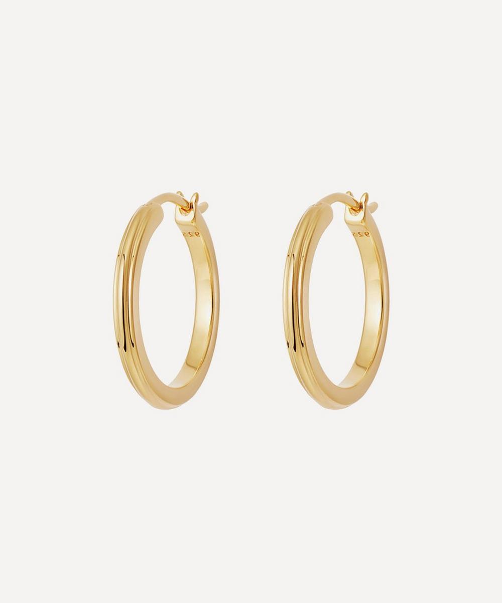 Astley Clarke - Gold Plated Vermeil Silver Small Linia Hoop Earrings